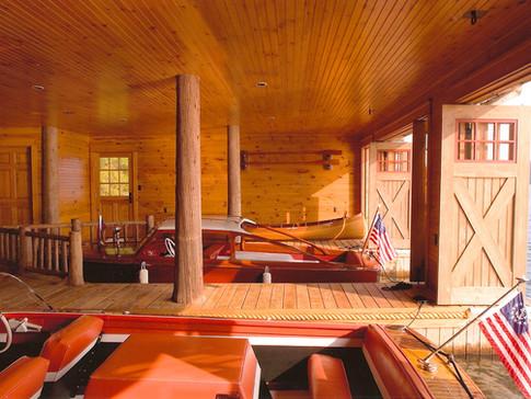 Ruthies Adirondack boathouse inside