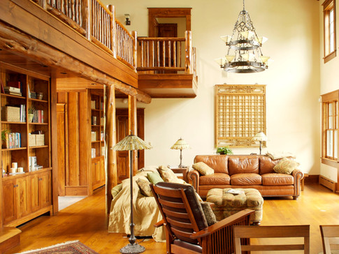Adirondack living room loft