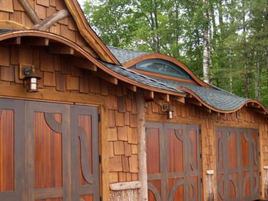 West Wind Adirondack boathouse exterior