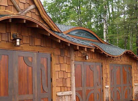Custom Adirondack boathouse
