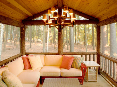 Adirondack screened porch