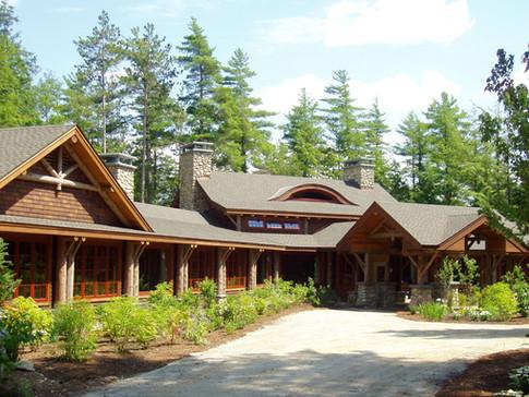 Contemporary Adirondack home