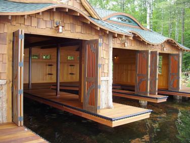 West Wind Adirondack boathouse