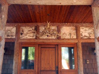 Adirondack log entry birch bark