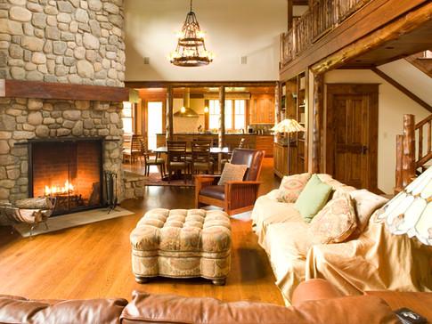 Adirondack Living Room Fireplace