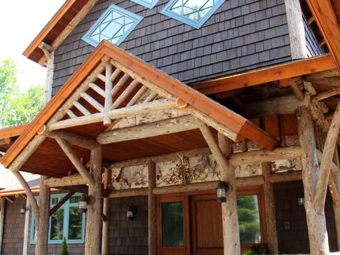 Adirondack home log entry