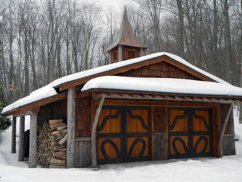 Adirondack style garage