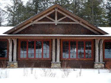 Adirondack home log columns