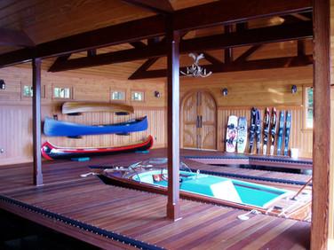 West Wind Adirondack boathouse interior