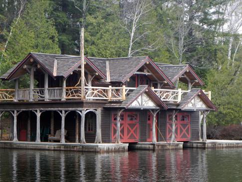 Tabachnik Adirondack boathouse