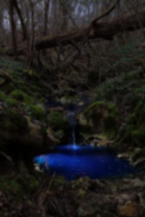 Gouache eau bleue