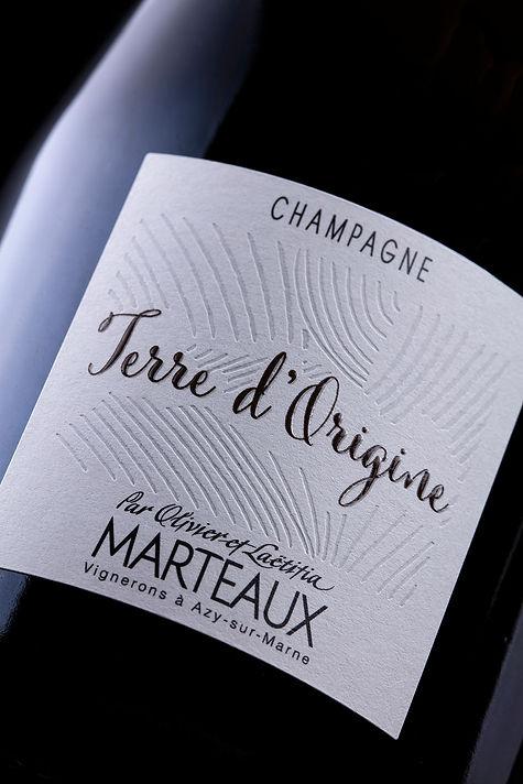 Photographie étiquette de champagne