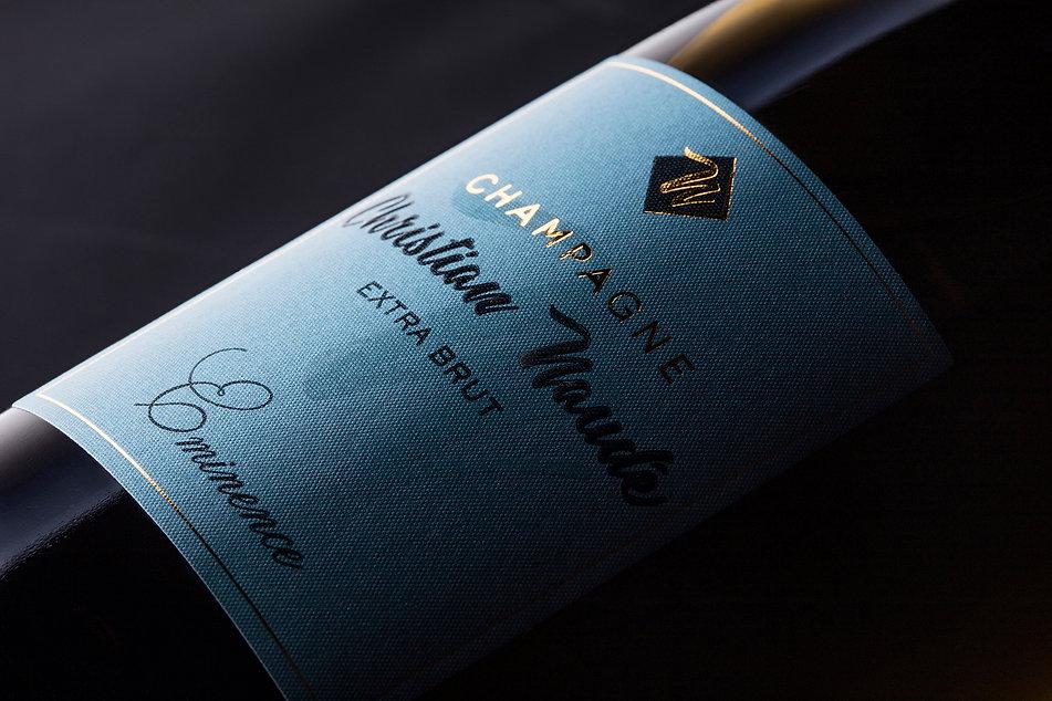 Photographie étiquette champagne
