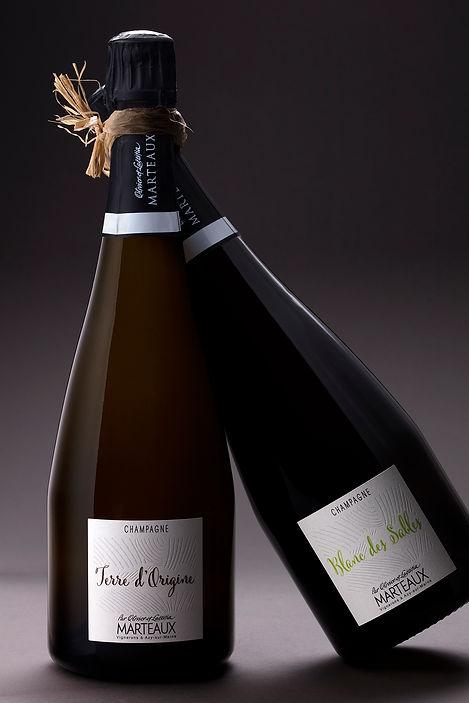 Photographie bouteilles de champagne