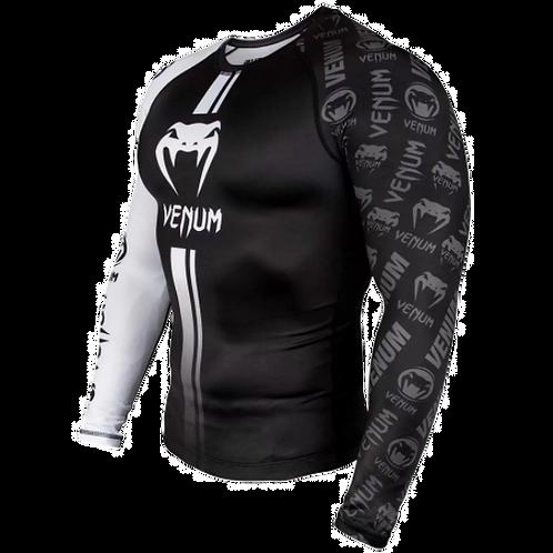 RUSH GUARD Venum Logos –Black/white