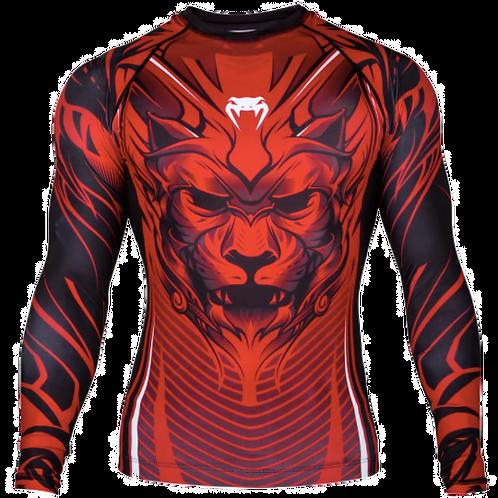 RUSH GUARD venum bloody roar/red