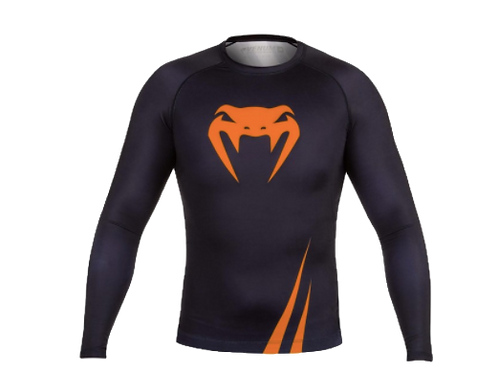 RUSH GUARD Venum Challenger L/S Black/Neo Orange