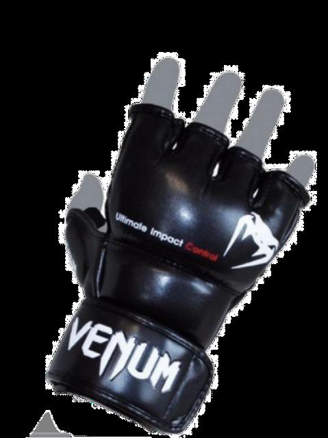 Venum Impact MMA Gloves - Skintex Leather Black
