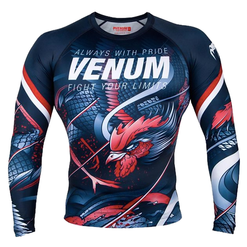 RUSH GUARD Venum  Rooster  Navy Blue/Orange