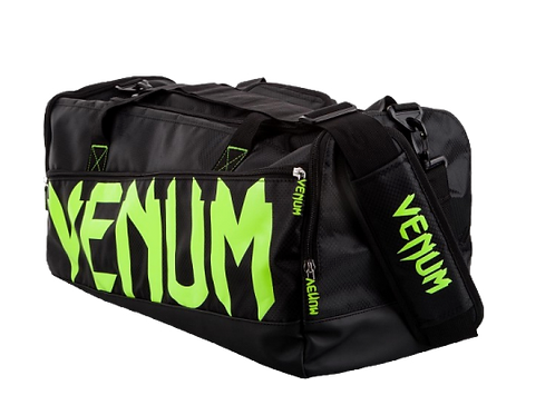 Venum Sparring Sport Bag  Black/Neo Yellow