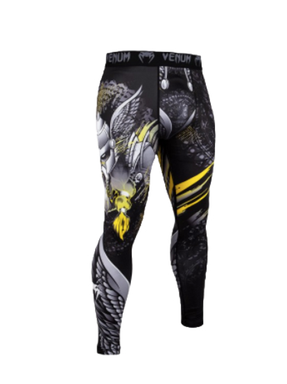Компрессионные штаны Venum Viking 2.0 Black/Yellow