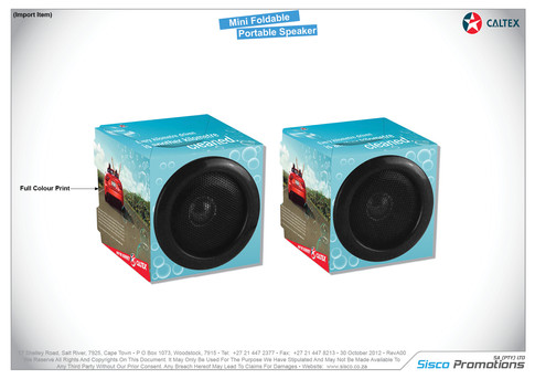Caltex Foldable Speaker