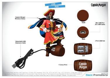 Captain Morgan USB Hub