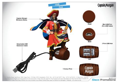 Captain Morgan USB Hub
