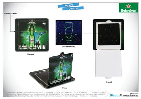 Heineken - Square Coaster