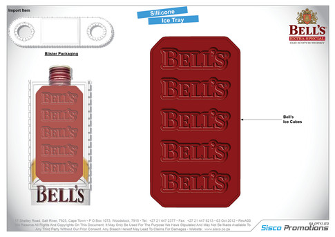 Bells Silicone Ice Tray