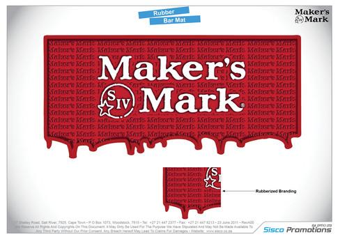 Makers Mark Bar Mat