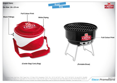 Castle Braai Bag