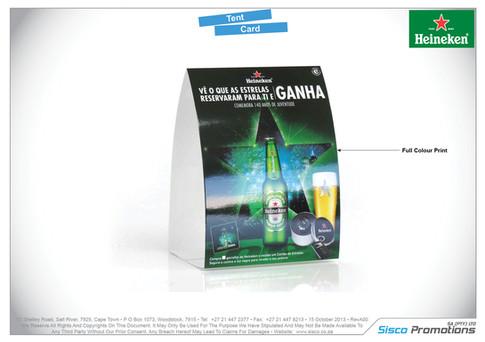 Heineken - Tent Card