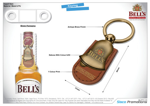 Bells Key Ring