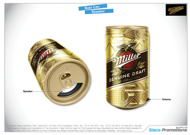 Miller Beer Can Speaker