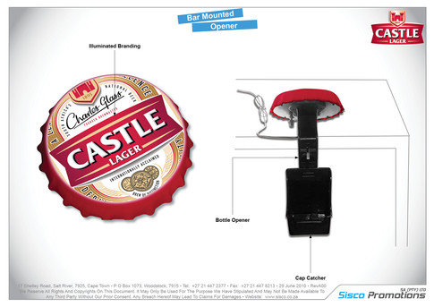 Castle Lager - Bar Mounted Opener