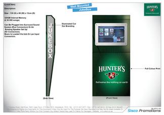 Hunter's Dry - Wall Mounted Juke Box