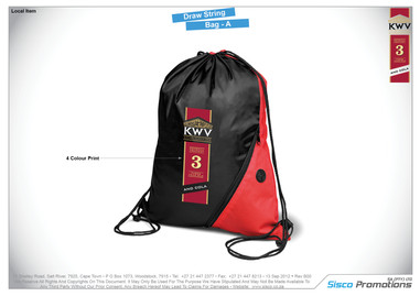 KWV - Draw String Bag