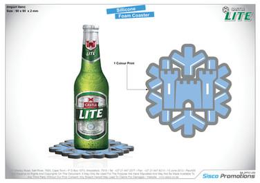 Castle Lite Silicone Foam Coaster