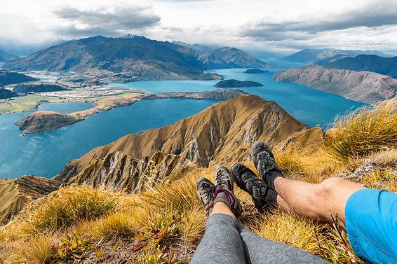 Wanderlust adventure and hiking travel v