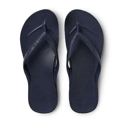 Navy - Archies -Arch Support Jandals