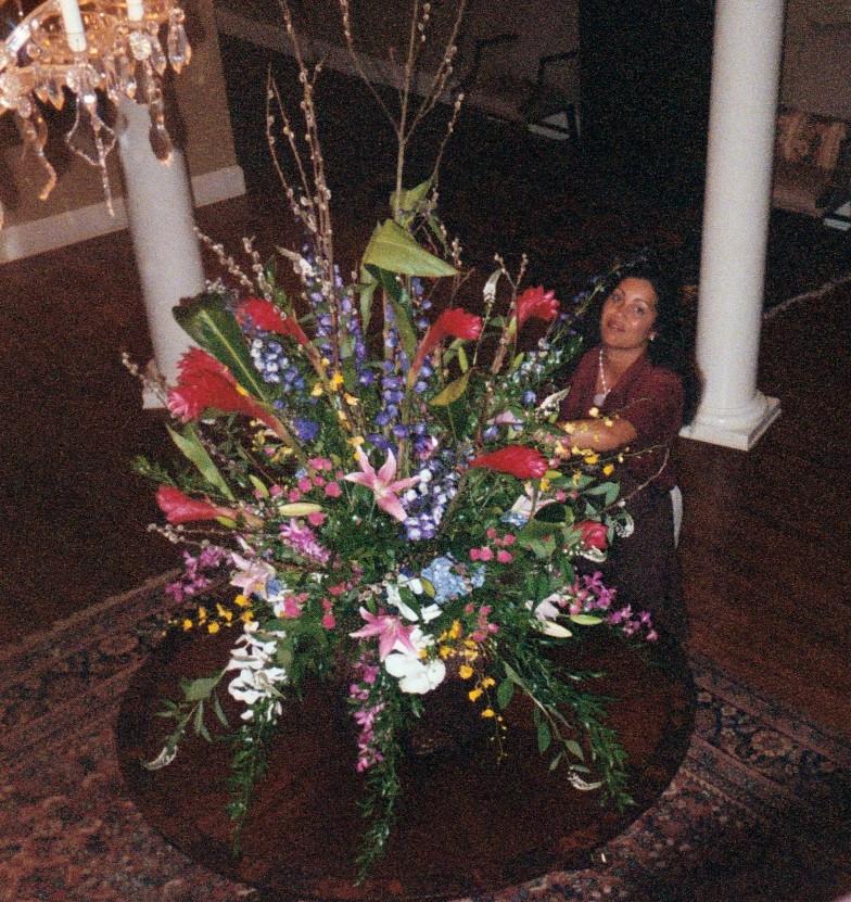 Tropical Centerpiece, Charleston Country Club, McKenzie Botanicals