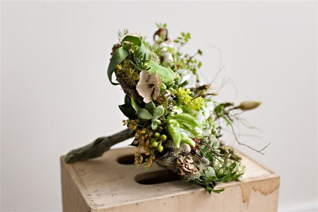 Botanical Bird nest Bouquet Pinterest