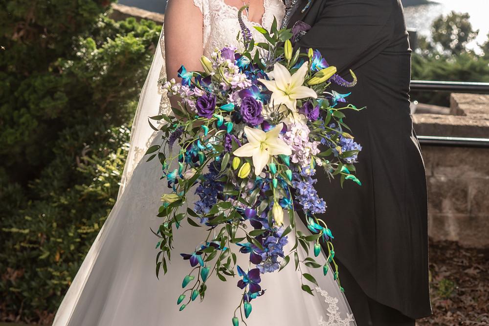 #cascadingbridalbouquet, #bridalbouquet, #mckenziebotanicals