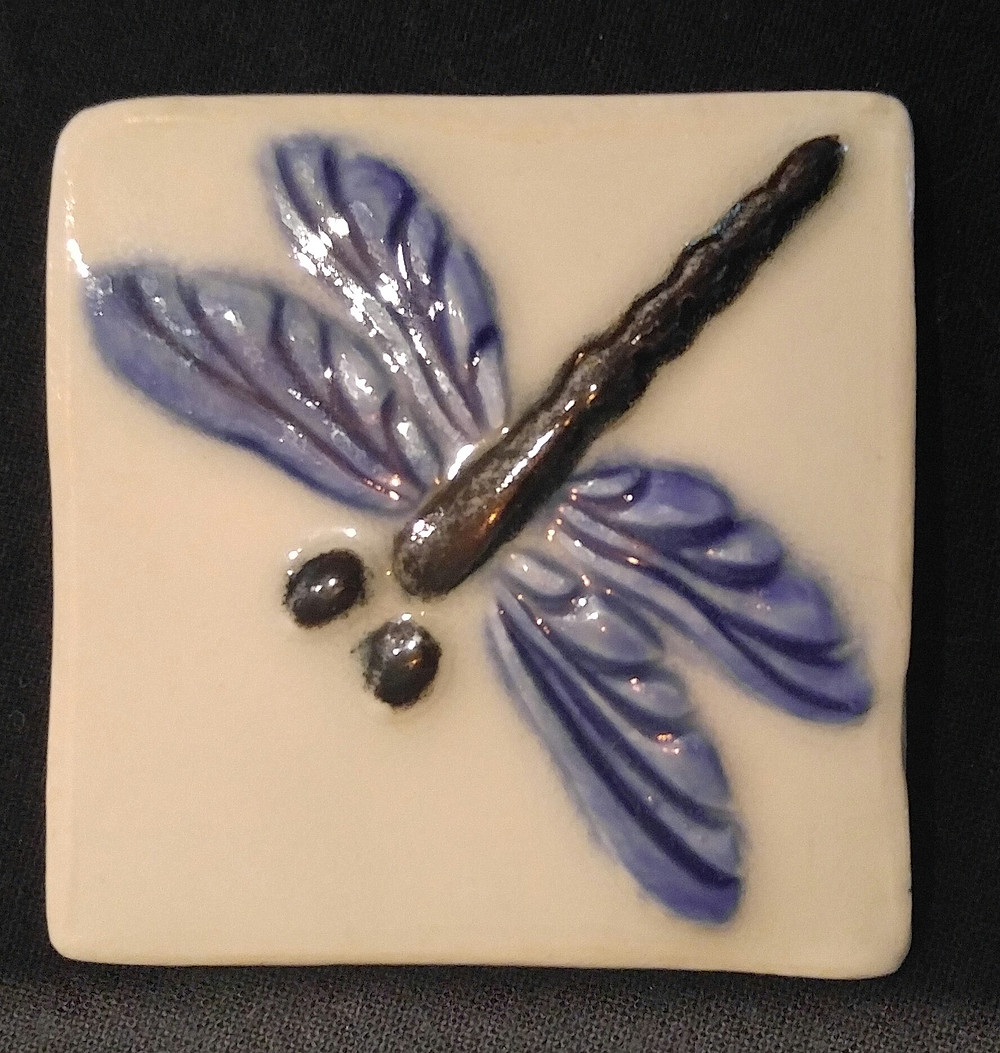 Table Tile Dragonfly - Ansie Holman