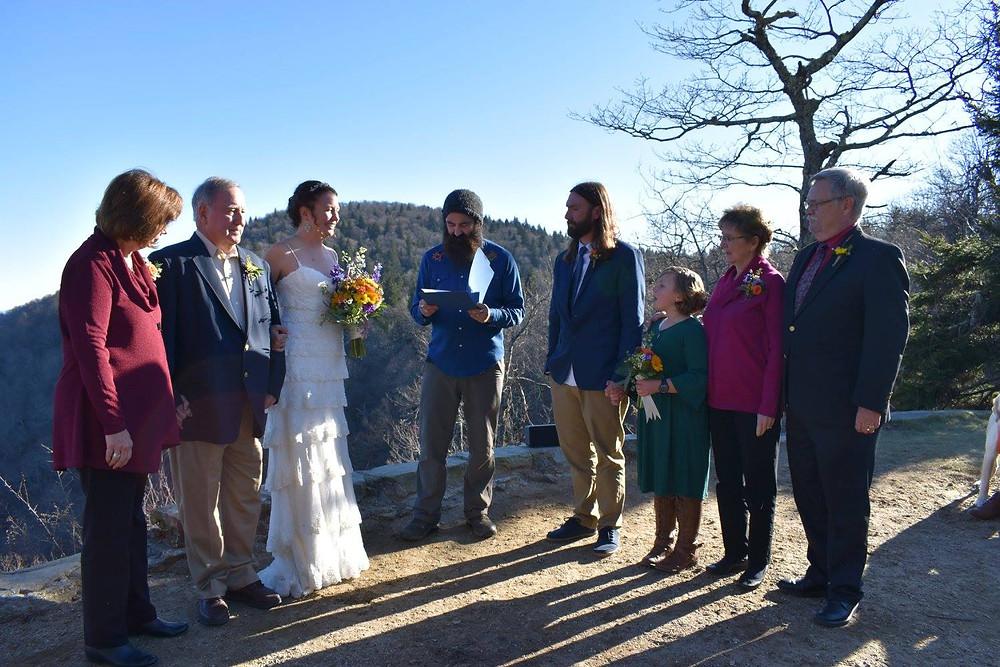 Wedding in the woods - Harrington - McKenzie Botanicals