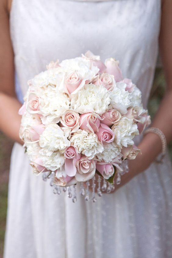 Wedding Bouquet image, roses, carnations
