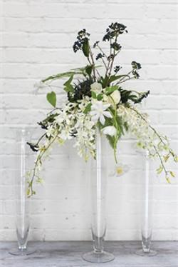 Floral Arrangement on Glass Riser