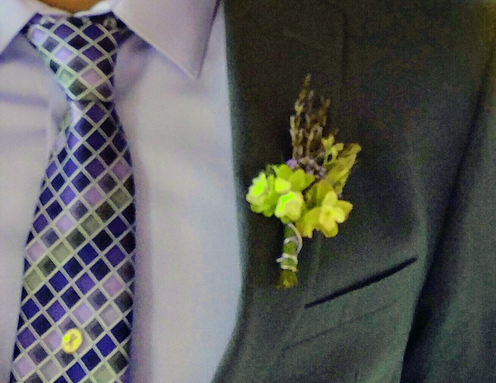 Lavender Boutonniere, Mckenzie Botanicals, Herbal weddings , Botanical weddings