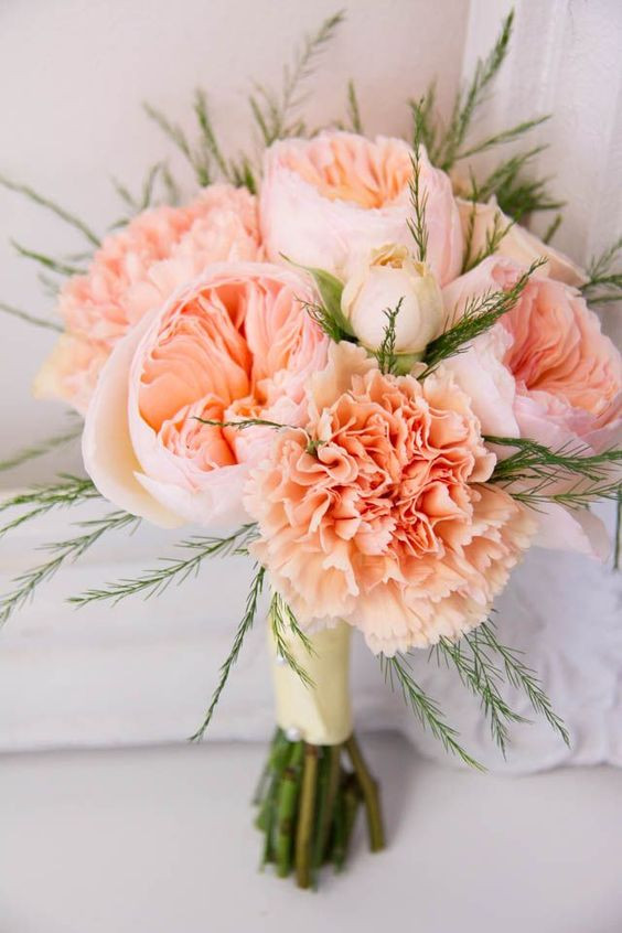 Nosegay of Garden roses and carnations